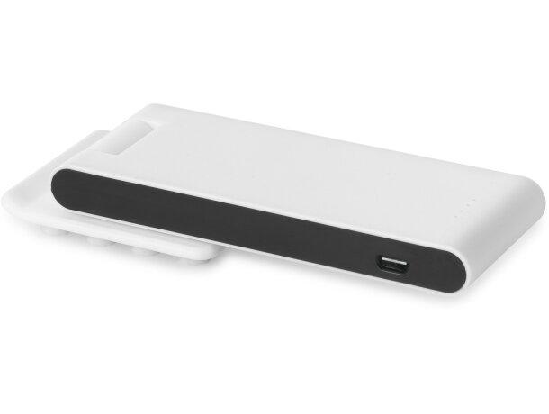 Batería portátil 3800 mAh ventosas con logo blanca
