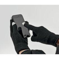 Guantes para pantalla táctil de invierno negro