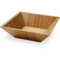 Ensaladera de madera personalizada natural