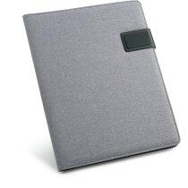 Portafolios A4 con acabado polipiel personalizado gris claro