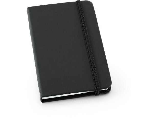 Bloc de notas A5 con tapas rígidas en colores negra personalizado