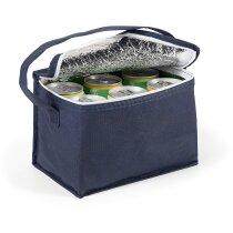 Bolsa nevera non woven para 6 latas personalizada azul