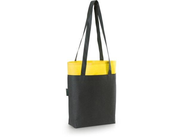 Bolsa bicolor non woven 105 gr / m2 amarilla