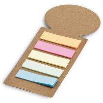 Punto de libro con marcadores adhesivos de colores personalizado natural