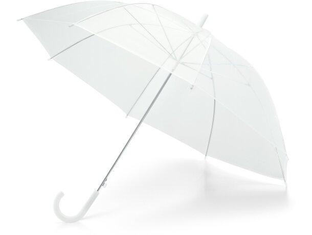 Paraguas de apertura automática personalizado blanco