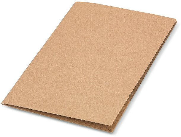 Carpeta dossier de cartón reciclado natural