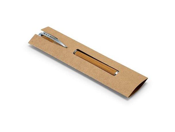 Bolígrafo en bambú con estuche ecológico natural