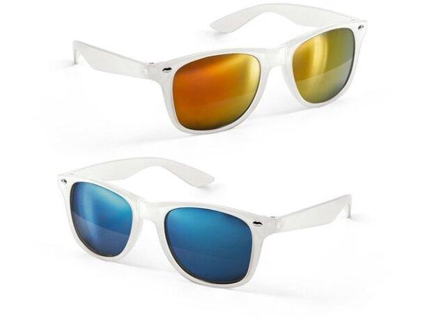 Gafas de sol transparentes con lentes de espejo