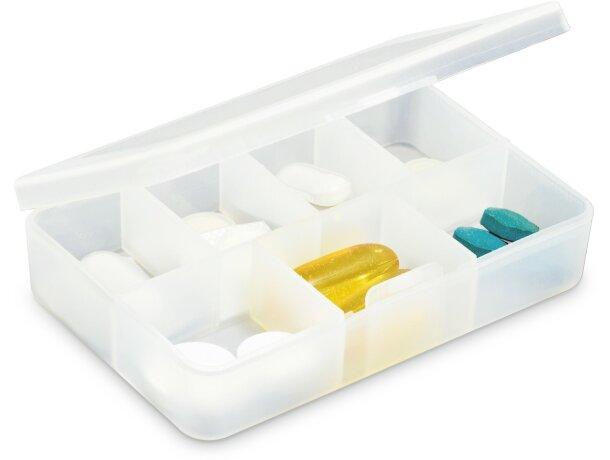 Pastillero de plástico 7 secciones blanco barato