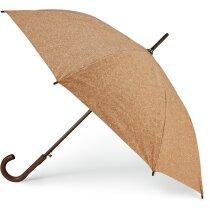 Paraguas con estructura de madera y corcho natural