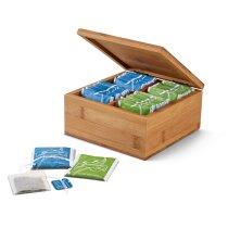 Caja de madera para infisiones natural