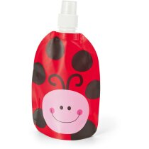 Botella plegable para niños personalizada roja