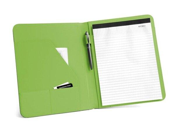 Portafolios a4 con banda de colores verde claro