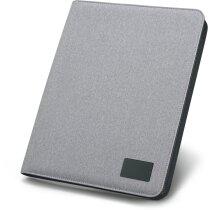 Portafolios A4 con bloc 20 hojas personalizado gris claro