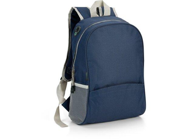 Mochila con espalda acolchada azul barata