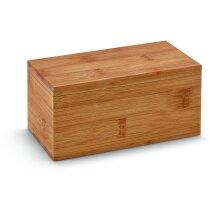Caja de madera para 20 infusioes personalizada natural