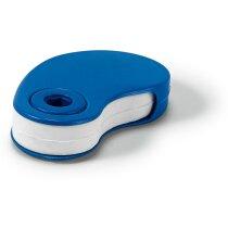 Goma de borrar con funda personalizada azul