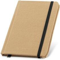 Bloc de notas de cartón con tapa rígida negra