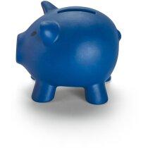 Hucha de plástico mini de colores personalizada azul