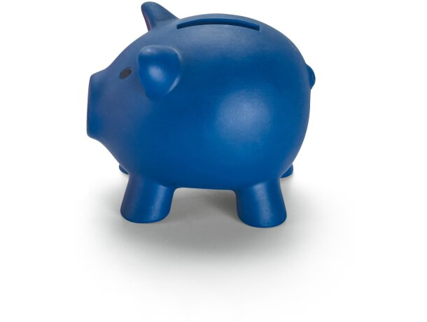 Hucha de plástico mini de colores azul barata