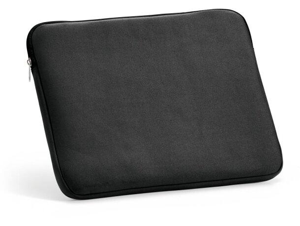Funda de poliester para ordenador portatil negra personalizado