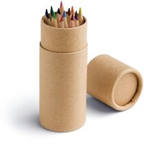 Estuche circular con 12 lápices de colores personalizado