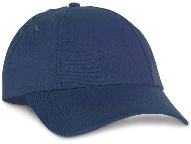 Gorra para bordado con 6 paneles personalizada azul