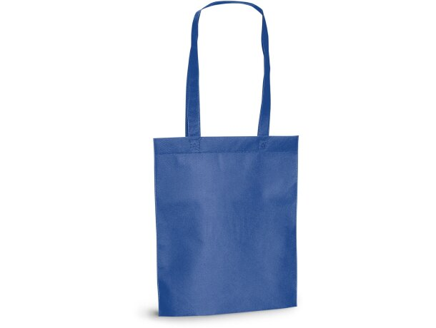 Bolsa de feria non woven termosellada personalizada azul royal