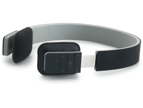 Cascos auriculares con funda negro