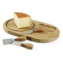 Tabla de quesos con accesorios personalizada natural