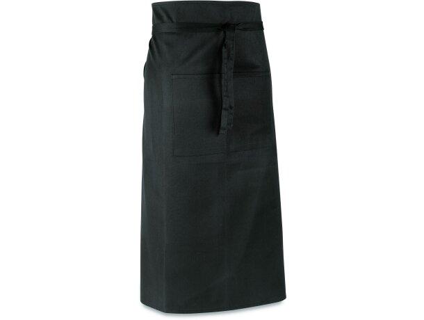 delantal largo en poliester para bar personalizado negro
