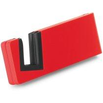 Soporte con ranura para móvil con logo rojo