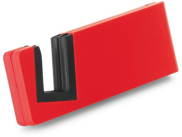 Soporte con ranura para móvil rojo personalizado