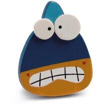 Imán de nevera de madera motivos infantiles personalizado azul