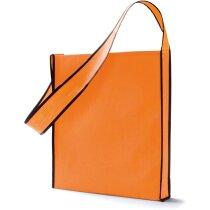 Bolsa bandolera non woven personalizada naranja