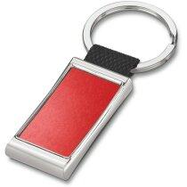 Llavero de webbing y metal personalizado rojo