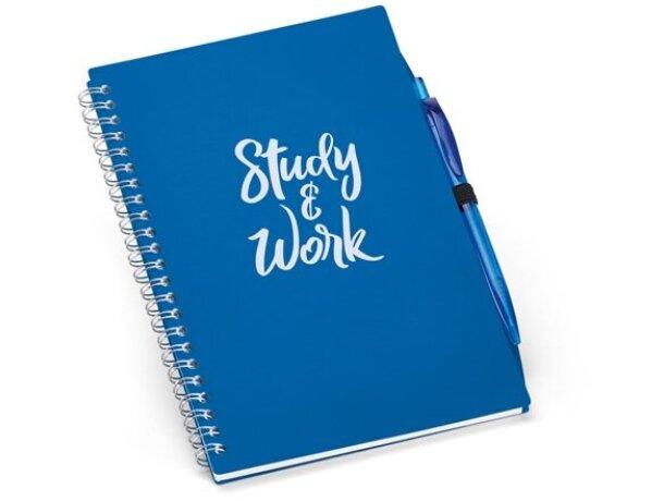 Libreta con bolígrafo tamaño a5 azul royal