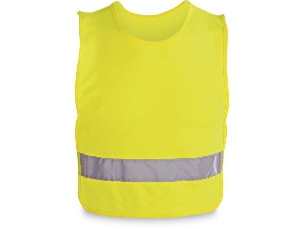 Chaleco de alta visibilidad para niños personalizado amarillo