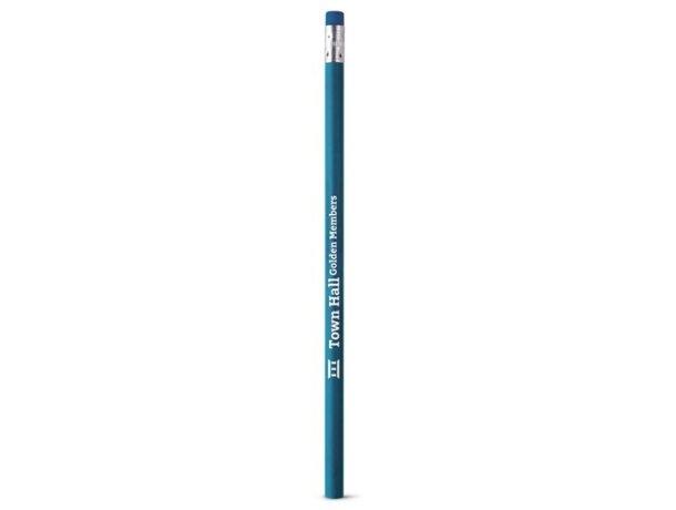 Lápiz con goma de colores azul claro
