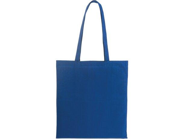 Bolsa 100% algodón personalizada azul