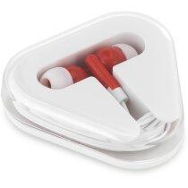 Auriculares con caja ABS personalizado rojo