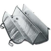 Parasol de aluminio con fijadores de ventosa barato gris claro