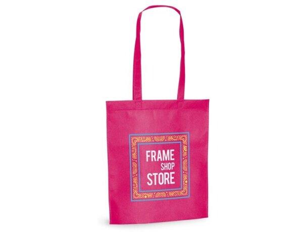 Bolsa de feria de varios colores rosa
