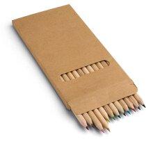 Estuche de cartón con 12 lápices de color personalizado