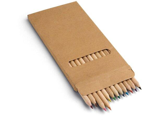 Estuche de cartón con 12 lápices de color para empresas