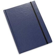 Bloc de notas con tapas de cartón duro de color azul