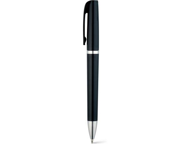 Bolígrafo acabado metalizado para serigrafiar personalizado negro