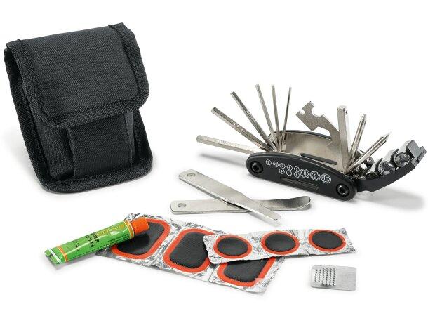 Set de 11 herramientas para bicicleta personalizado negro