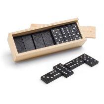 Juego de dominó en caja de madera personalizado