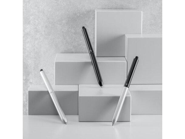 Bolígrafo de aluminio con puntero en silicona
